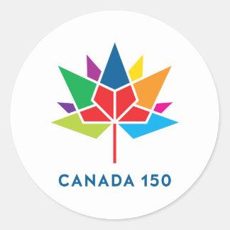 Canada 150 Official Logo - Multicolor Classic Round Sticker