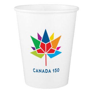Canada 150 Official Logo - Multicolor Paper Cup