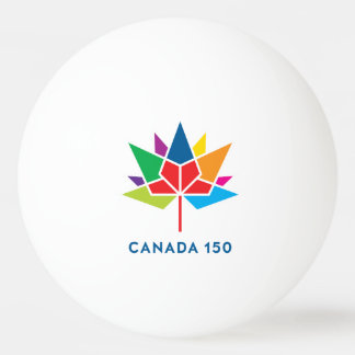 Canada 150 Official Logo - Multicolor Ping Pong Ball