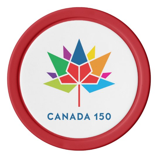 Canada 150 Official Logo - Multicolor Poker Chips
