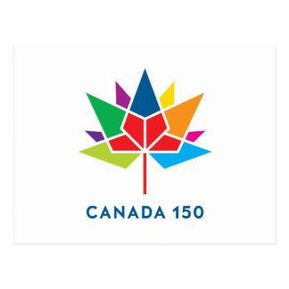 Canada 150 Official Logo - Multicolor Postcard