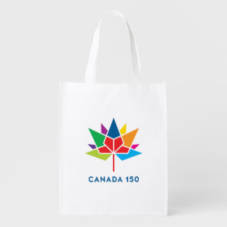 Canada 150 Official Logo - Multicolor Reusable Grocery Bag