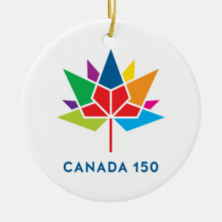 Canada 150 Official Logo - Multicolor Round Ceramic Ornament