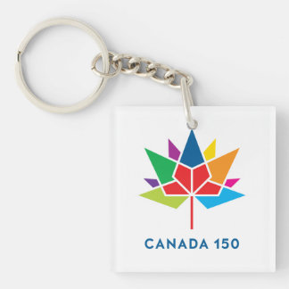 Canada 150 Official Logo - Multicolor Single-Sided Square Acrylic Keychain