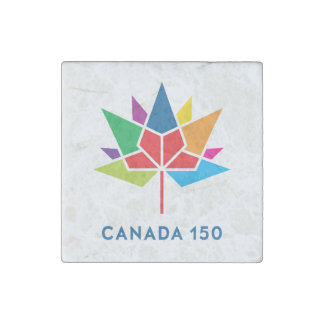 Canada 150 Official Logo - Multicolor Stone Magnets