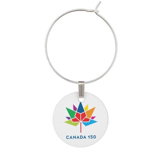 Canada 150 Official Logo - Multicolor Wine Charms