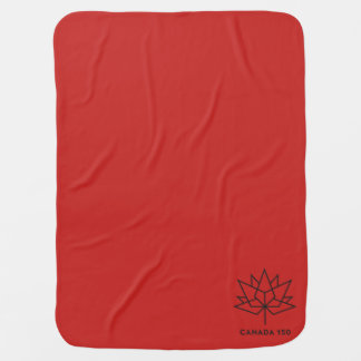 Canada 150 Official Logo - Red and Black Baby Blanket