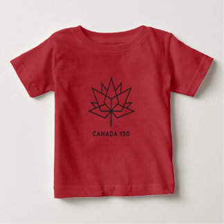 Canada 150 Official Logo - Red and Black Baby T-Shirt