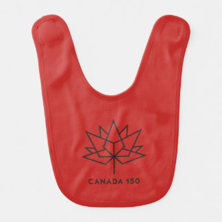 Canada 150 Official Logo - Red and Black Bib