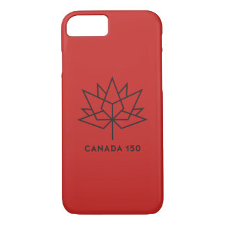 Canada 150 Official Logo - Red and Black iPhone 8/7 Case