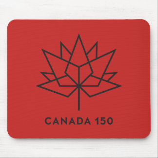 Canada 150 Official Logo - Red and Black Mouse Pad