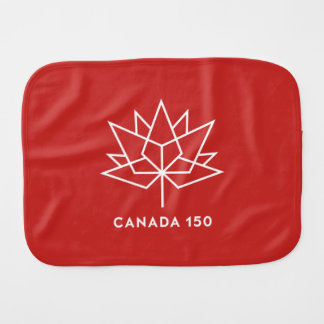 Canada 150 Official Logo - Red and White Burp Cloth