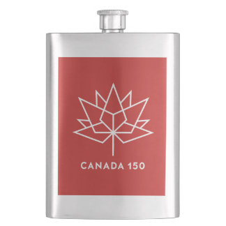 Canada 150 Official Logo - Red and White Flasks