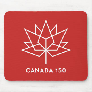 Canada 150 Official Logo - Red and White Mouse Pad