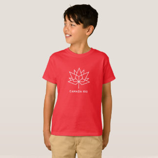 Canada 150 Official Logo - Red and White T-Shirt