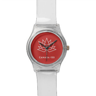 Canada 150 Official Logo - Red and White Watch