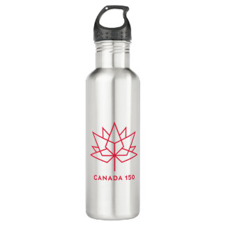 Canada 150 Official Logo - Red Outline 710 Ml Water Bottle