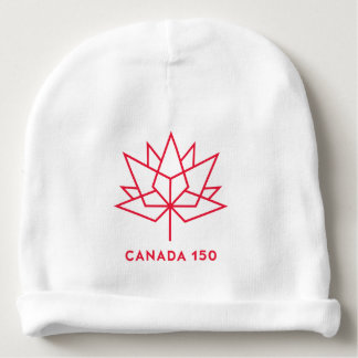 Canada 150 Official Logo - Red Outline Baby Beanie