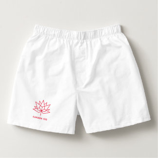 Canada 150 Official Logo - Red Outline Boxers