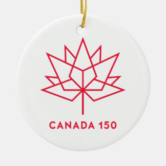 Canada 150 Official Logo - Red Outline Ceramic Ornament