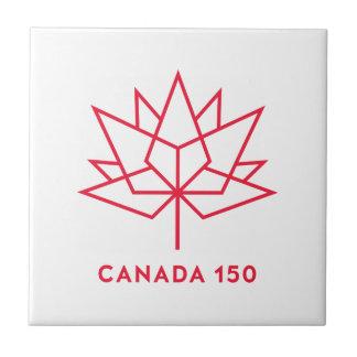 Canada 150 Official Logo - Red Outline Ceramic Tile