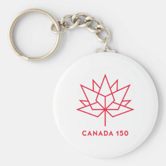 Canada 150 Official Logo - Red Outline Keychain