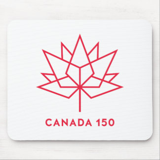 Canada 150 Official Logo - Red Outline Mouse Pad