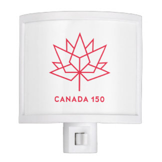 Canada 150 Official Logo - Red Outline Nite Light