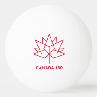 Canada 150 Official Logo - Red Outline Ping Pong Ball
