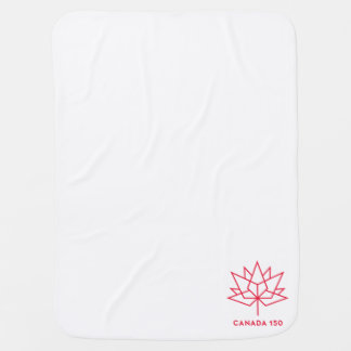 Canada 150 Official Logo - Red Outline Receiving Blankets