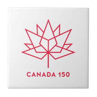 Canada 150 Official Logo - Red Outline Tile