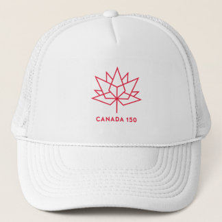 Canada 150 Official Logo - Red Outline Trucker Hat