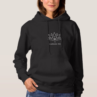 Canada 150 Official Logo - White Outline Hoodie