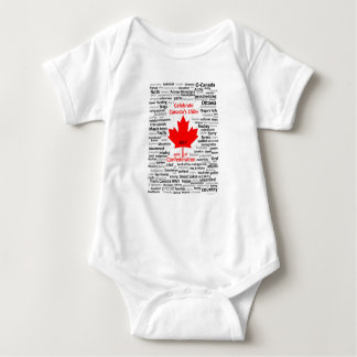 Canada 150 One-piece Baby Bodysuit