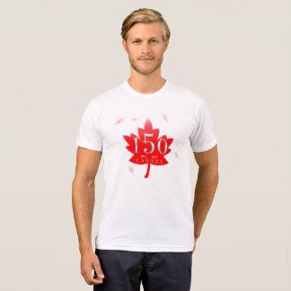 Canada 150 Red Maple Leaf Fireworks T-Shirt