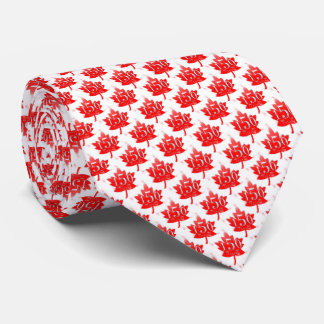 Canada 150 Red Maple Leaf Fireworks White Tie