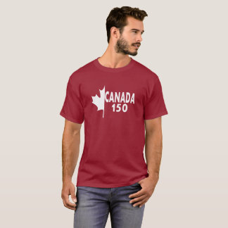 Canada 150 T-shirt (white on red)