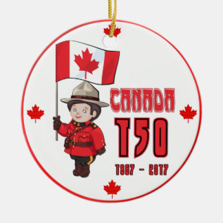 Canada 150 Years Anniversary Ceramic Ornament