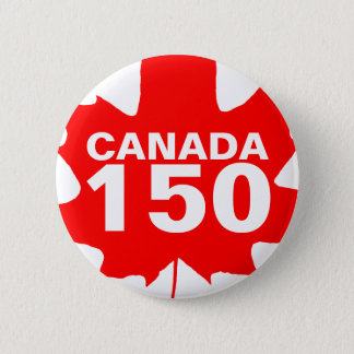Canada 150 years anniversary one-of-a-kind 2 inch round button