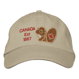 Canada 150 Years Celebrate Beaver Embroidered Baseball Cap