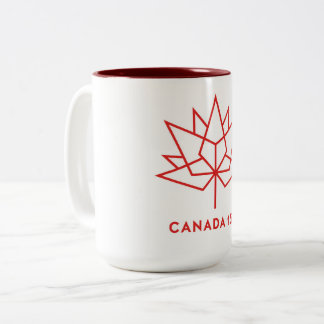 Canada 150th two tone coffee mug Maroon