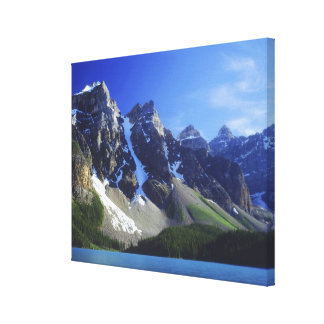 Canada, Alberta, Banff National Park, Moraine Canvas Print