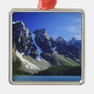 Canada, Alberta, Banff National Park, Moraine Silver-Colored Square Ornament