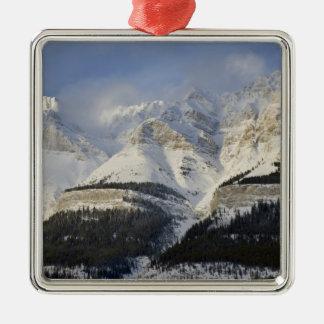 Canada, Alberta, Banff National Park. View of Silver-Colored Square Ornament