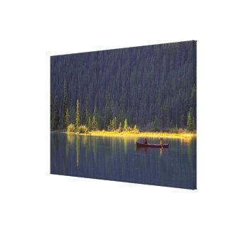 Canada, Alberta, Baniff National Park. Two boys Canvas Print