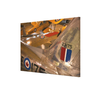 Canada, Alberta, Calgary: Aero Space Museum of Stretched Canvas Prints