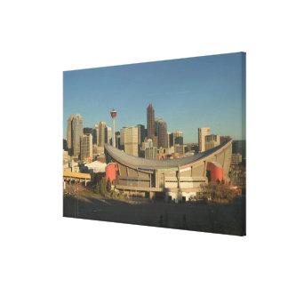 Canada, Alberta, Calgary: City Skyline from 3 Canvas Print