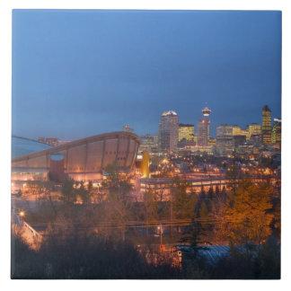 Canada, Alberta, Calgary: City Skyline from 4 Tiles