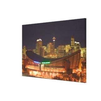 Canada, Alberta, Calgary: City Skyline from Canvas Print