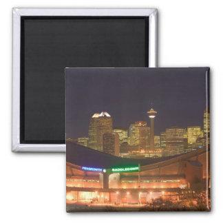 Canada, Alberta, Calgary: City Skyline from Square Magnet